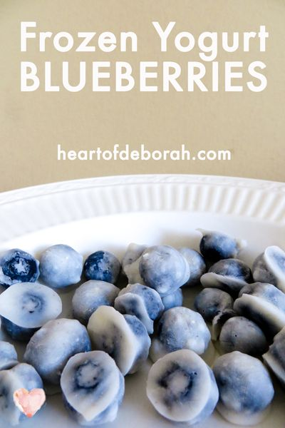 Healthy Snack Idea for Kids! Try this delicious frozen yogurt blueberries recipes. Your toddler will love this snack.