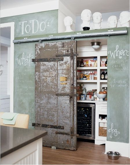 Industrial Loft Kitchen with Awesome Door #gbhome