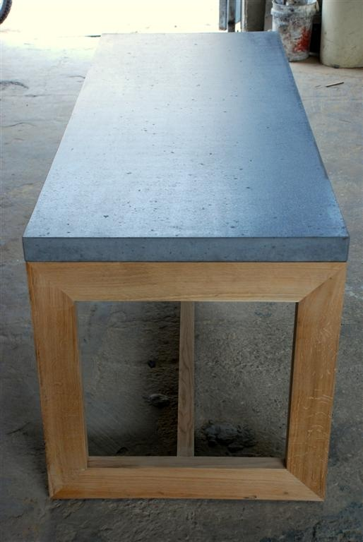 Concrete and oak table (2)