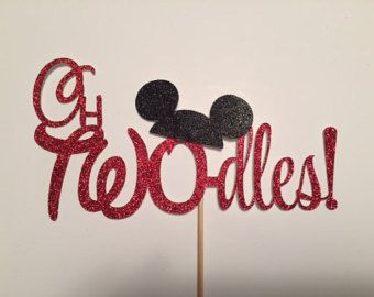 oh TWOdles cake topper/ Mickey Mouse cake by MyPaintedDesigns