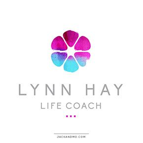 Custom flower painted for Lynn Hay's logo/branding. Love it! Life Coach.