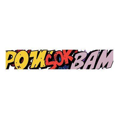 JP London UCLT9021 uStrip Lite Comic Sonic Superhero Pow Sock Book Prepasted Wallpaper Mural