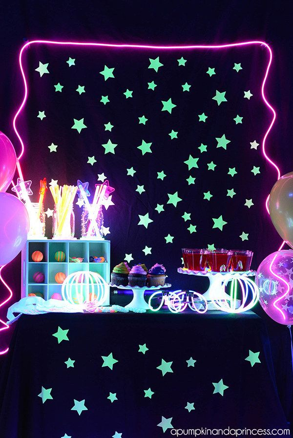 Fill your house with black lights and throw a glow in the dark party.