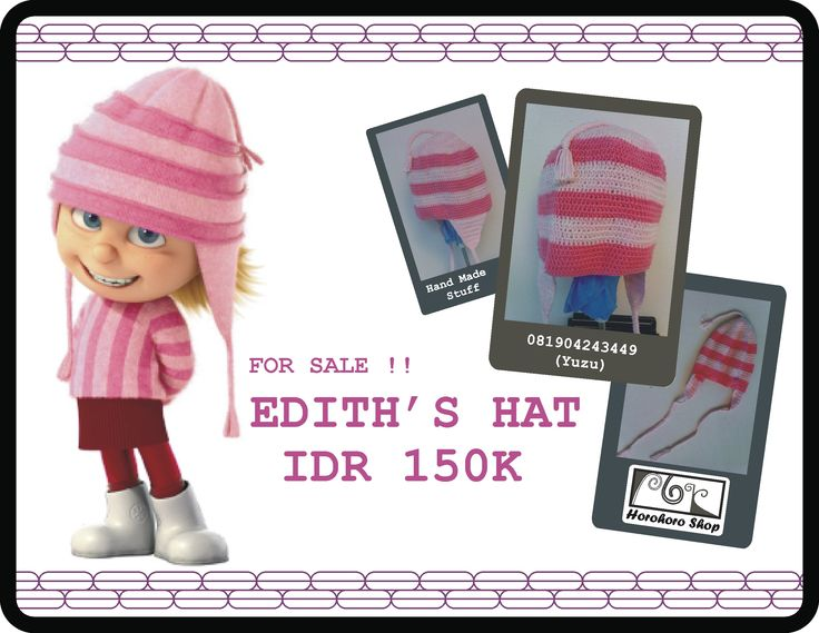 FOR SALE : IDR 150 K : EDITH's HAT : DESPICABLE ME