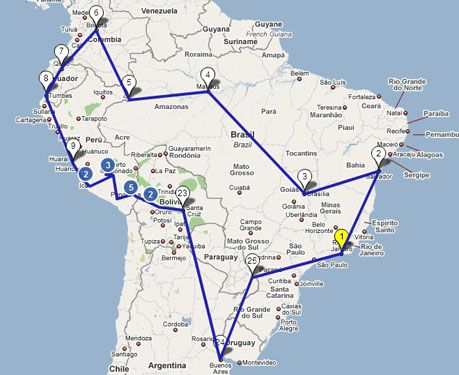 South America Route -plans to travel?!!!