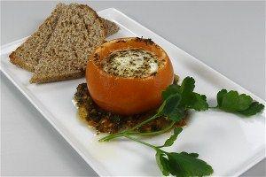 Bagte tomater med æg 4