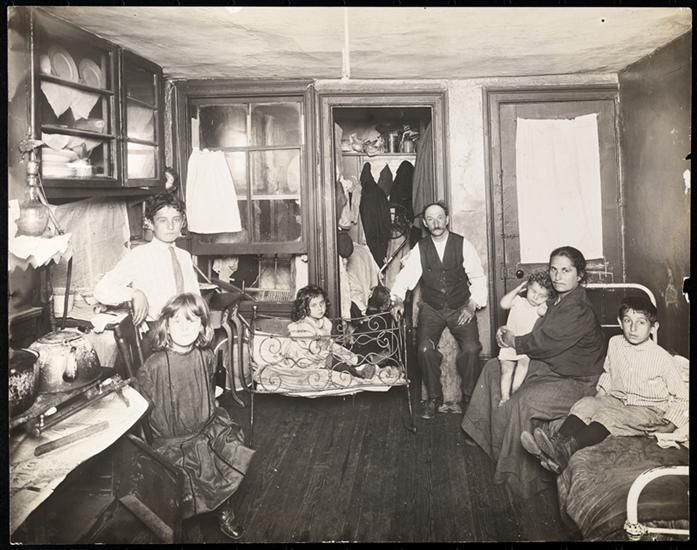 family in room in tenement house | Jacob Riis | Pinterest ...