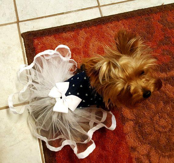 Dog Tutu Dress  Dog Clothing Dog Wedding by ChicDoggieBoutique