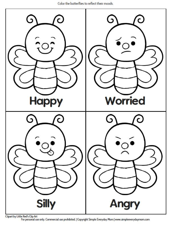 Feelings Coloring Pages - Coloring Home | 788x600