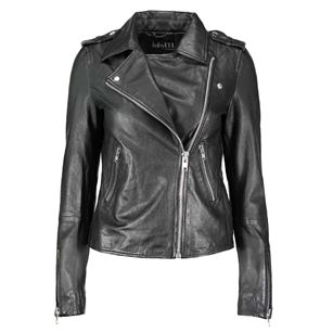 Mbym Vibes venice leather jacket, Black, medium