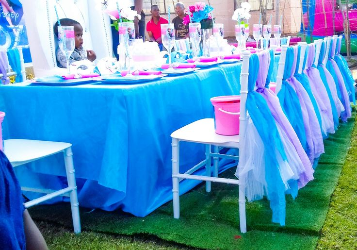 Frozen birthday party ideas  tiffany chairs
