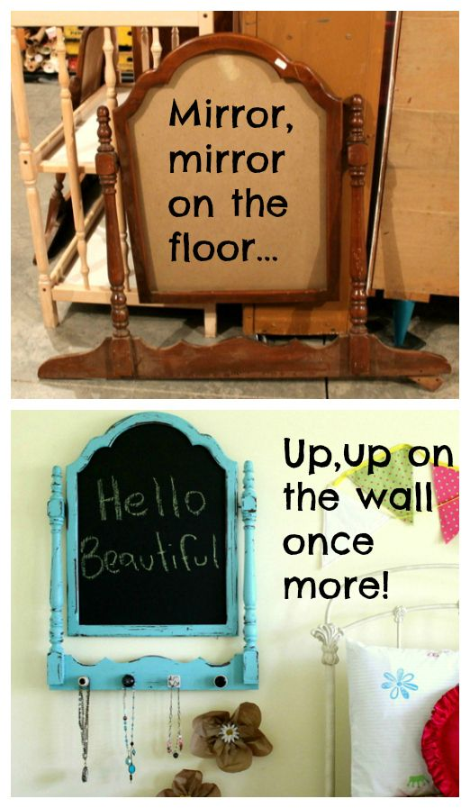 Upcycle: Old mirror frame, new organizer!