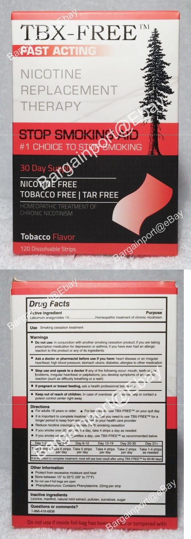 Other Smoking Cessation: Tbx-Free ~ Fast Acting ~ Stop Smoking Aid ~ 120 Oral Strips ~ Tobacco Flavor New -> BUY IT NOW ONLY: $44.99 on eBay!