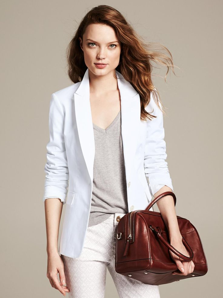 White Sateen Blazer