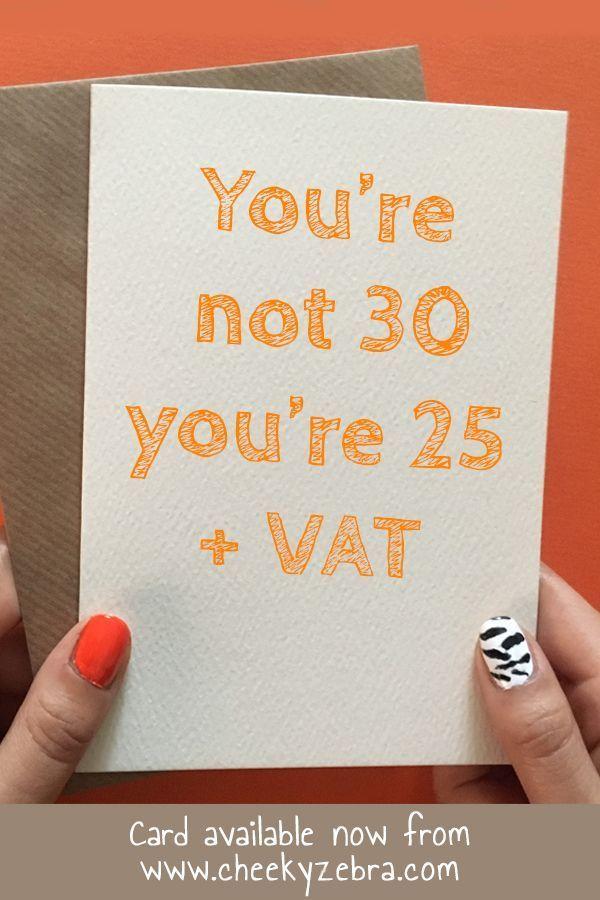 30 Vat Funny 30th Birthday Cards 90th Birthday Cards 30th Birthday Cards