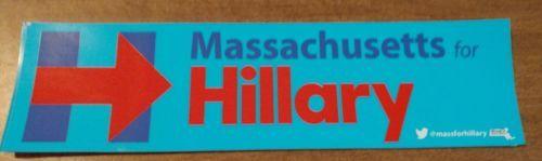 Hillary Clinton: Hillary Clinton Massachusetts 2016 Bumper Sticker President Democrat Election -> BUY IT NOW ONLY: $3.99 on eBay!