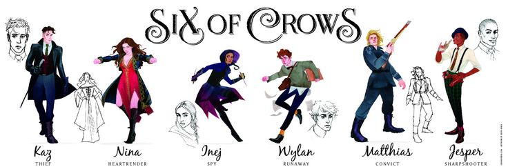 Leigh Bardugo reveales six pieces of character art for Crooked Kingdom! Kevin Wada beautifully illustrated these character portraits, which will be featured on a poster available at Leigh Bardugo's San Diego Comic-Con signings. Find her SDCC schedule HERE. Jesper: Inej: Kaz: Nina: Matthias: Wylan/Kuwei: If you won't be at Comic-Con, you will get a chance to winRead More