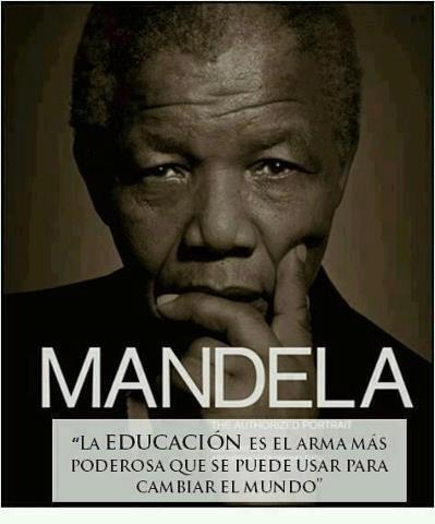 mandela y la educacion #EDUCACION #NIÑOS #FRASES