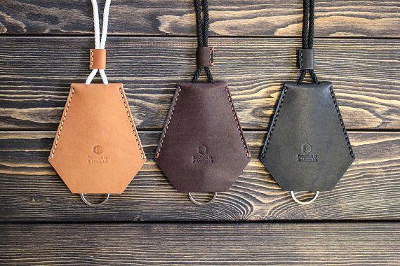 Handmade leather key holder. Key case. by inSidegift on Etsy