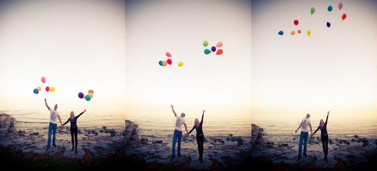 Paletta Mansion Burlington, releasing colourful balloons!