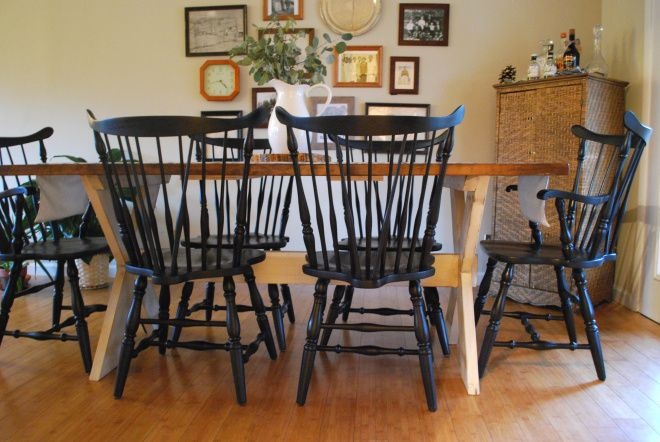 Black Windsor Chairs In Dining Room Home Style Decor