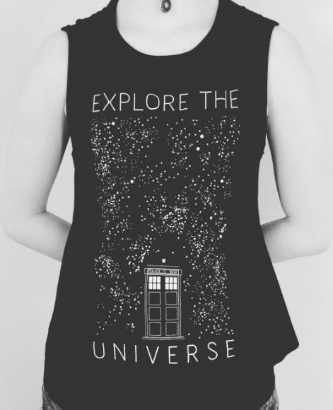Explore the Universe // Doctor Who Explore The Universe Girls Muscle Top