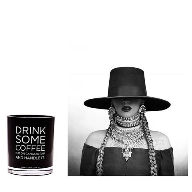 How we deal with terrible Tuesday's Yonce style  #handleit #damselflyofficial #quotecandle #yonce #originalquotecandle #flydamselfly #drinksomecoffee