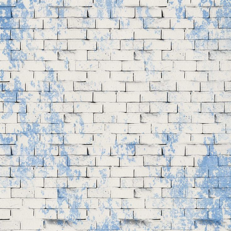 Pale And Blue Brick Wall - FREE