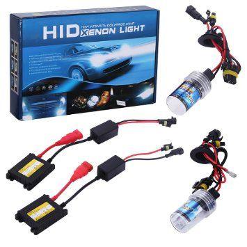 GHB Kit Xenón HID H7 Bombillas de Coche 6000K Faros de Xenon 55W Luces Xenon Auto Lamparas Coche  Kit de Conversión HID Headlight Luz de Color Blanco