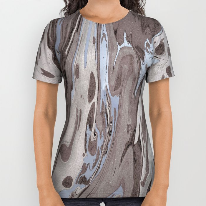 Mocha Marble All Over Print Shirt