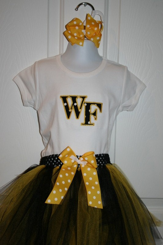 Gameday TuTu Set with Matching Hairbow Size 6mo to 5T. $40.00.  Cute for mini Deacs!
