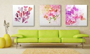 Groupon - Spring Watercolor Stretched Canvas Art in [missing {{location}} value]. Groupon deal price: $47.99