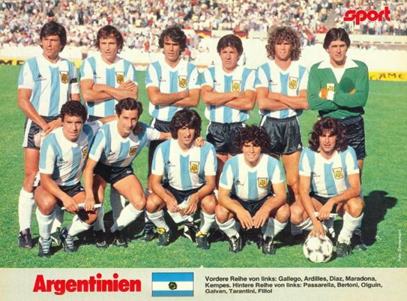 Argentina team group in 1981.