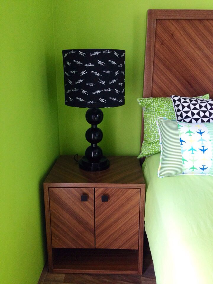 LeSouq table lamp with my custom fabric choice