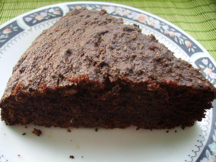 Пирог манник шоколадный