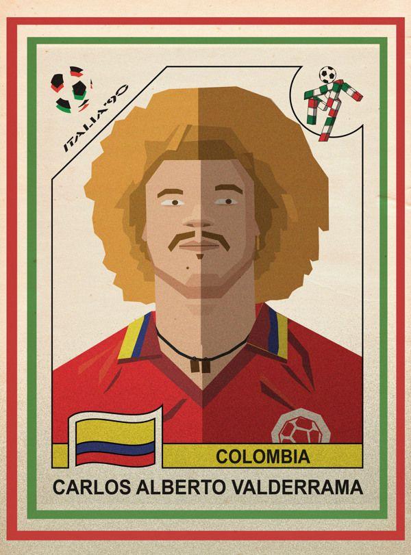 colombia style italia 90 - carlos alberto valderrama