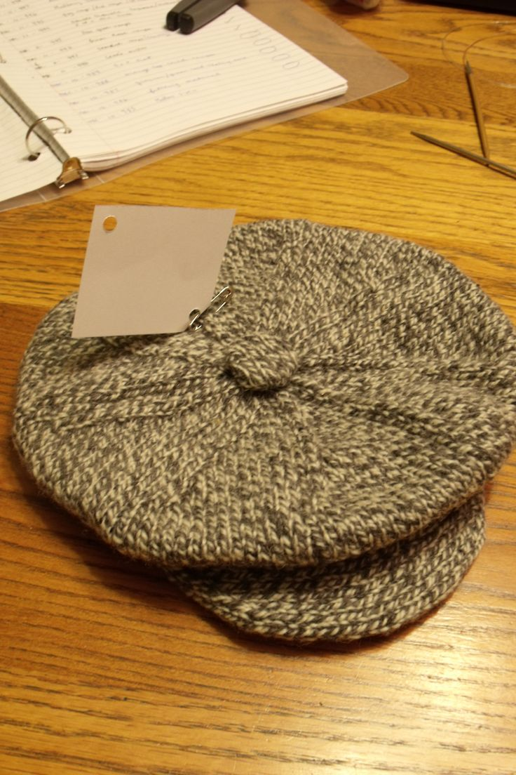 a traditional Newfoundland salt and pepper hat knit by many loving hands....