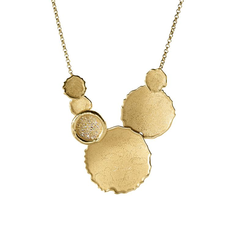 Oxette Gold plated Silver 925 - Available online here: http://www.oxette.gr/kosmimata/kolie/necklace-mat-white-crystal-gold-plated-silver-244l-1/    #oxette #necklace