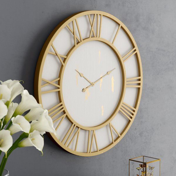 Oversized Cottage Framed 36 Wall Clock Gold Wall Clock Oversized Wall Clock Big Wall Clocks