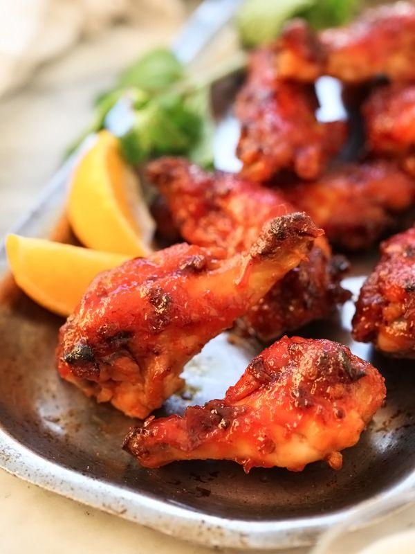 Honey BBQ Chicken Wings! Yum! Chipotle Honey Baked Chicken Wings Recipe  #Chipotle #Honey #BBQ #Baked #Chicken_Wings #Recipe