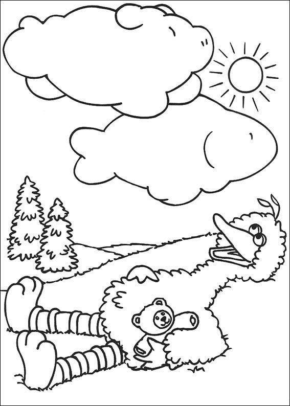 coloring pages of big bird - photo#21