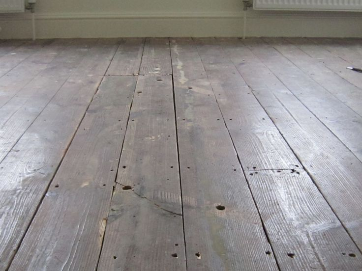 Plumbing damage and many gaps in this old timber floor