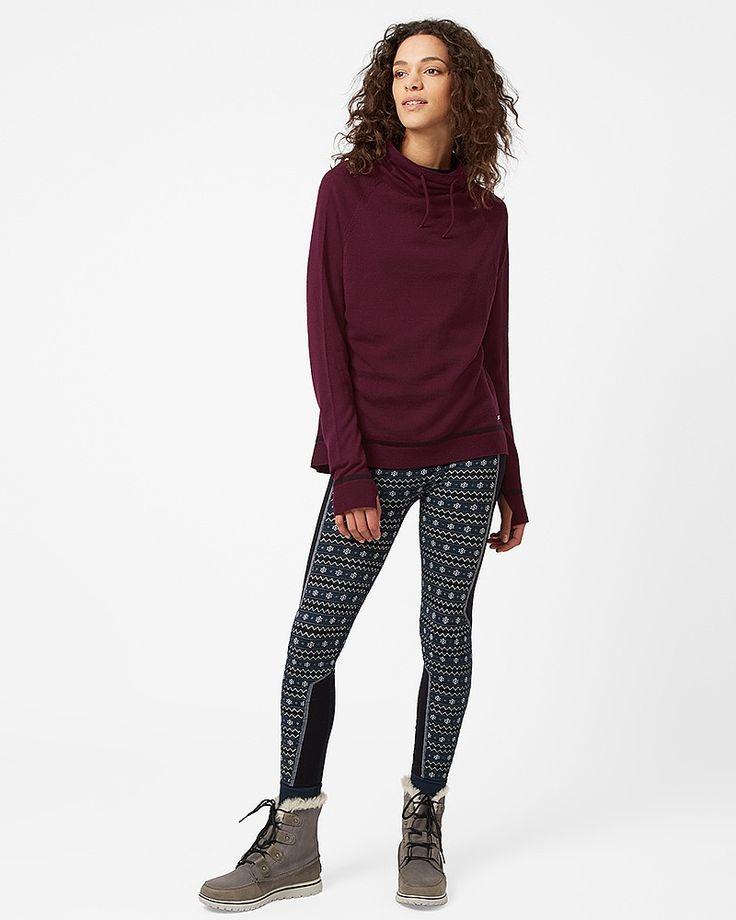Merino Escape Knitted Jumper - Oxblood | long sleeve tops | Sweaty Betty