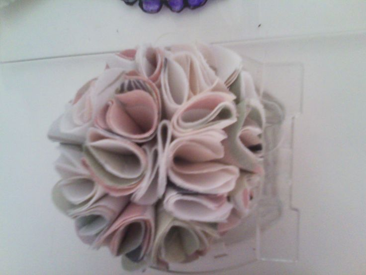 flower with fabric