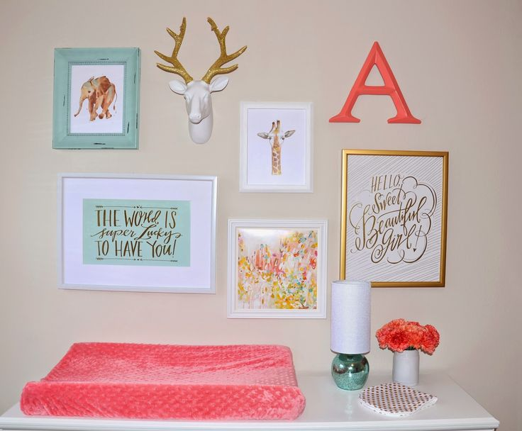 Always In Bluhm: Nursery Reveal: Annelise's Mint, Coral & Gold Nursery