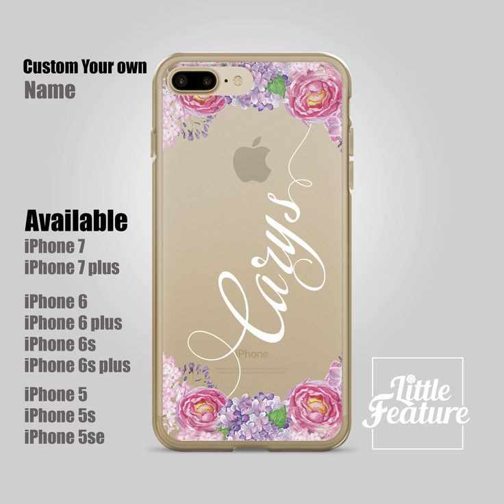personalized iPhone 7 case, personalised iPhone 6 case, personalized iPhone 7 plus, iPhone 6s floral, custom iPhone case (Shipped From USA) by LittleFeature on Etsy