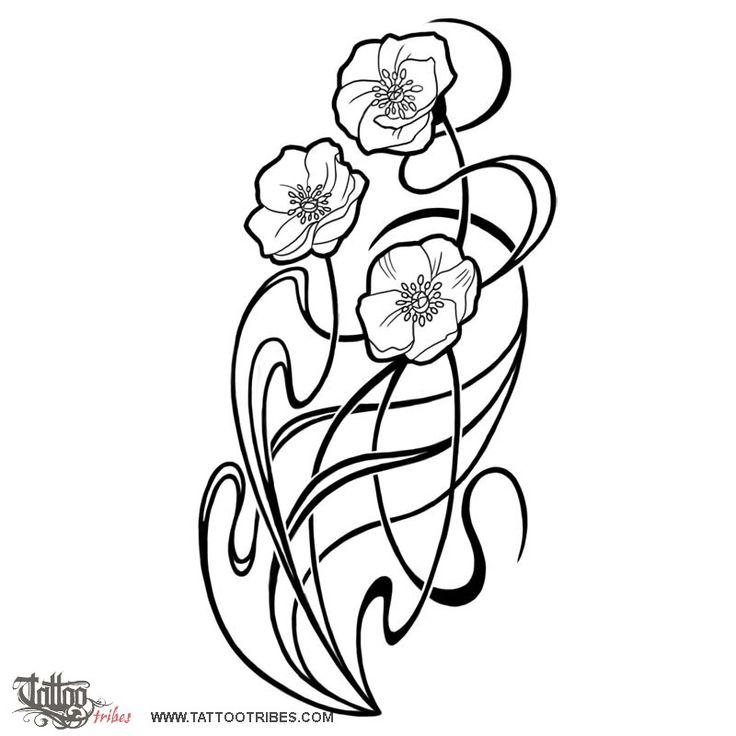 Art nouveau flowers tattoo tattoos that i love for Art deco flowers