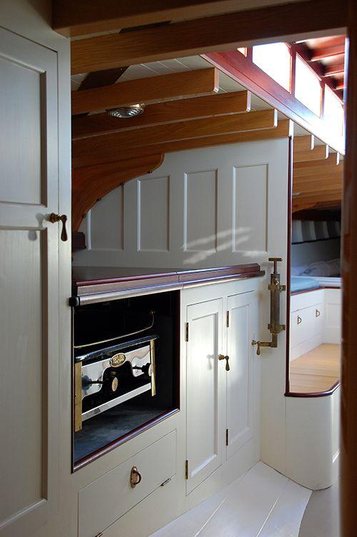 Inside wooden boats pinterest for Boat interior restoration near me