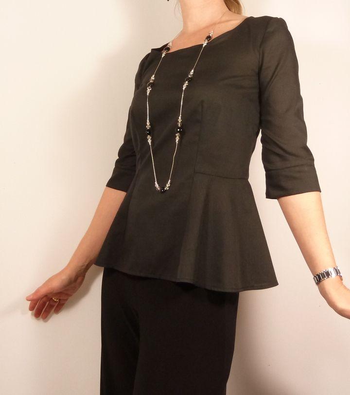 Patron de couture top Jacinthe // Histoire de Coudre  => Version de SB Créations Couture