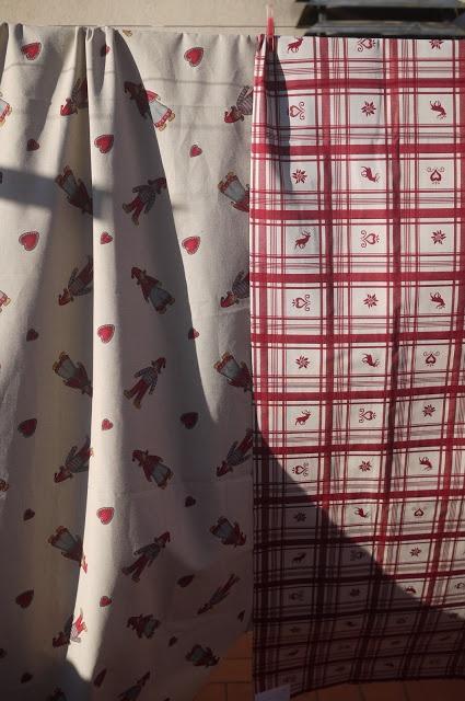 Nuevas telas para manteles de Navidad